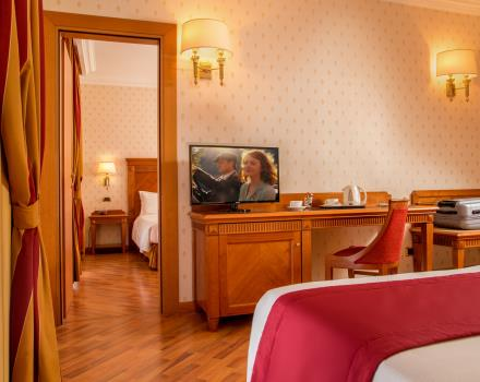 Comfort and space in the suites of the Best Western Hotel Viterbo