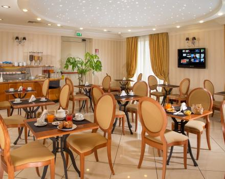 A rich and genuine breakfast buffet is waiting for you at the Best Western Hotel Viterbo